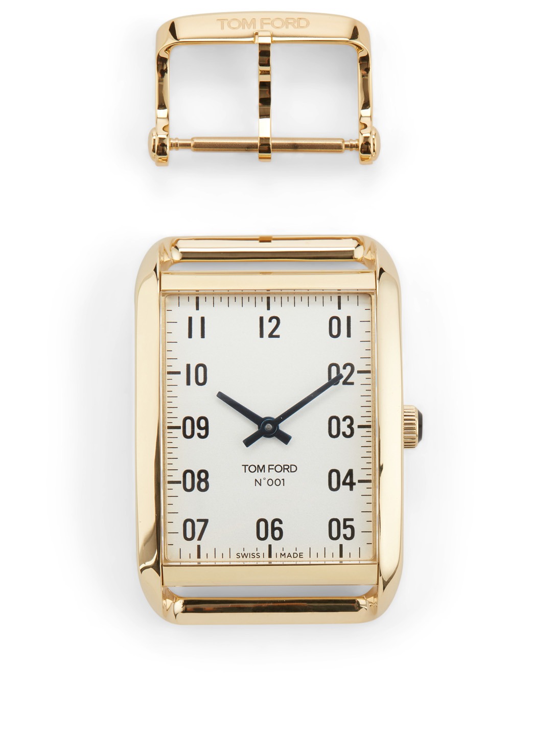 TOM FORD Large 001 Polished 18K Gold Watch Case With Buckle Womens Gold