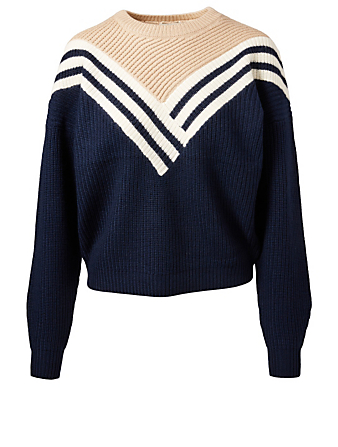 JOIE Tillana Wool Colourblock Sweater Women's Blue