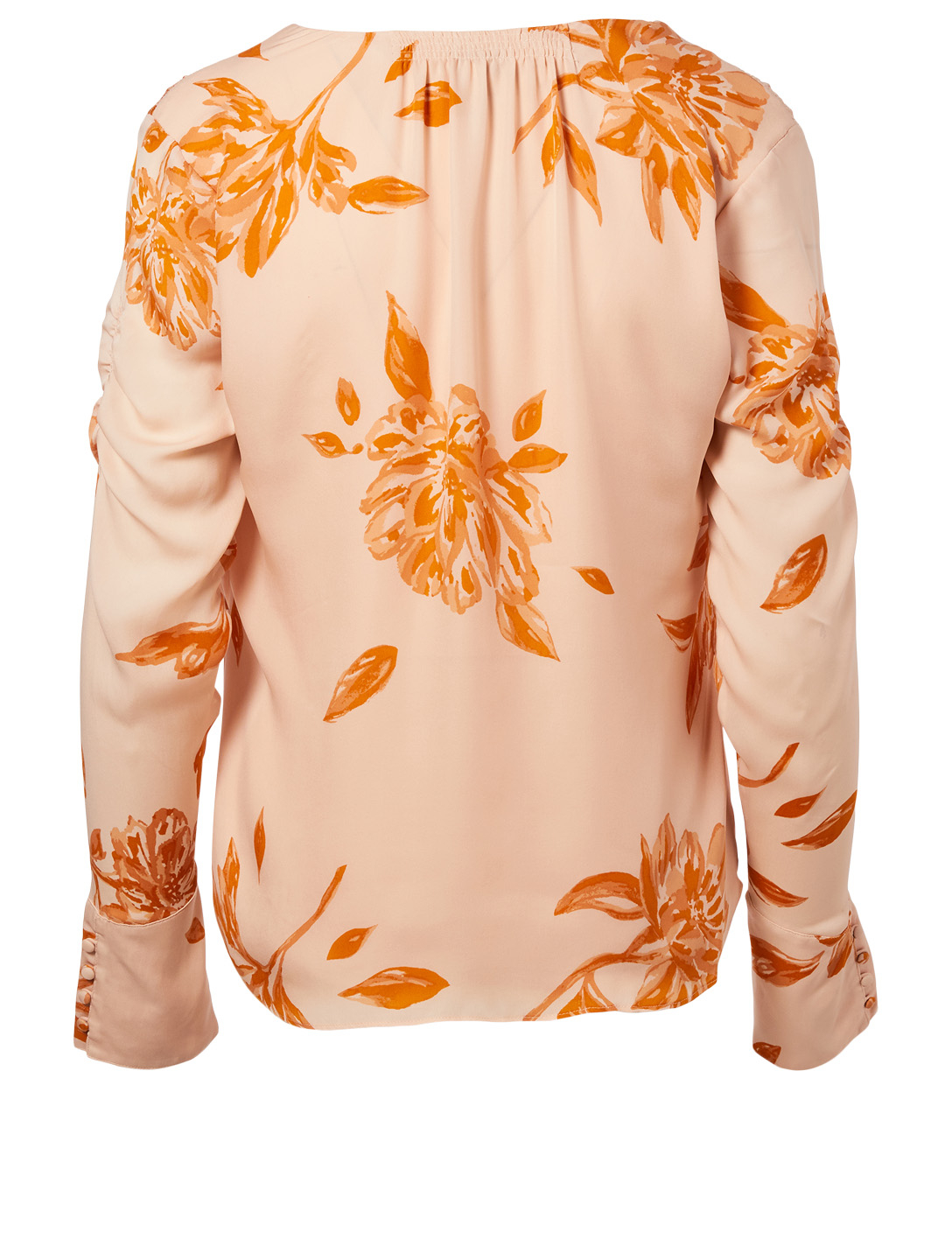 JOIE Galvin Silk Blouse In Floral Print Women's Pink