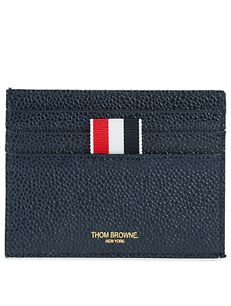 THOM BROWNE Leather Card Holder Men's Blue
