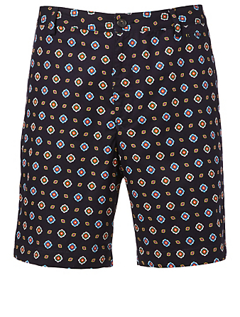 KENZO Shorts In Medallion Print Men's Blue