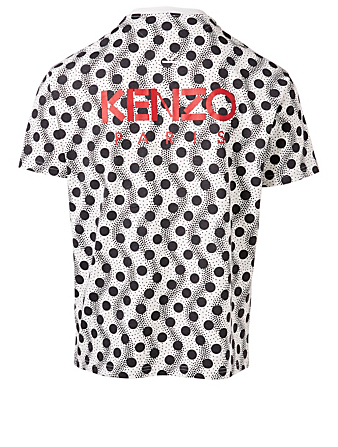 KENZO T-Shirt In Wavy Dots Print Men's White