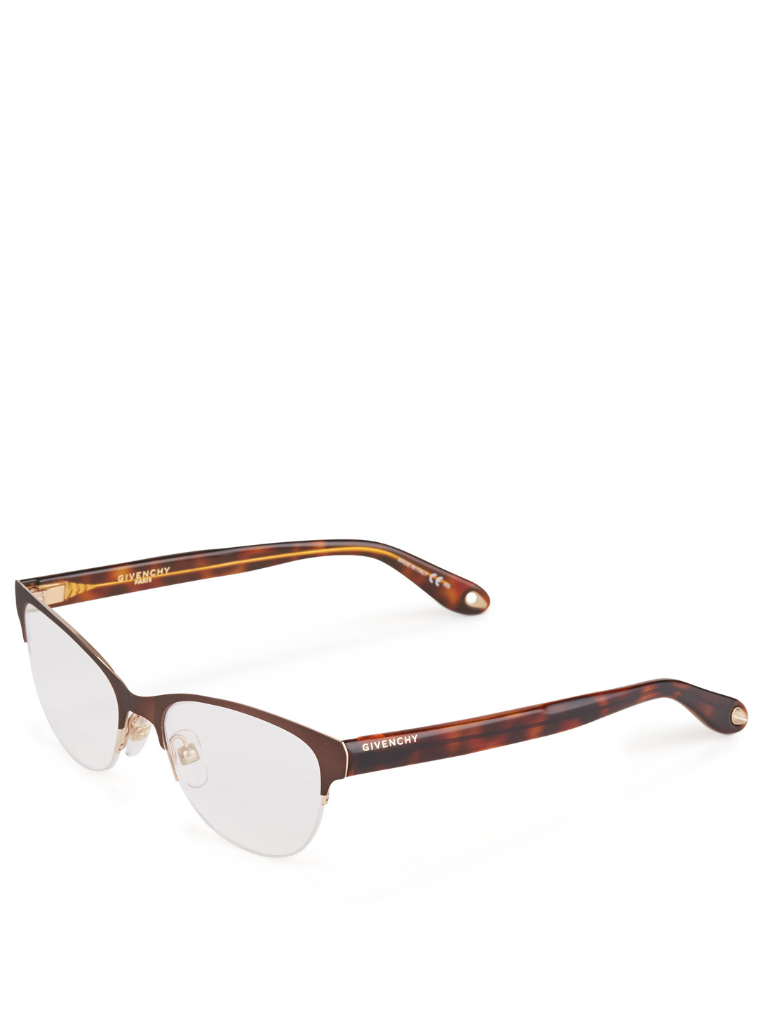 GIVENCHY Cat-Eye Optical Glasses Women's Brown