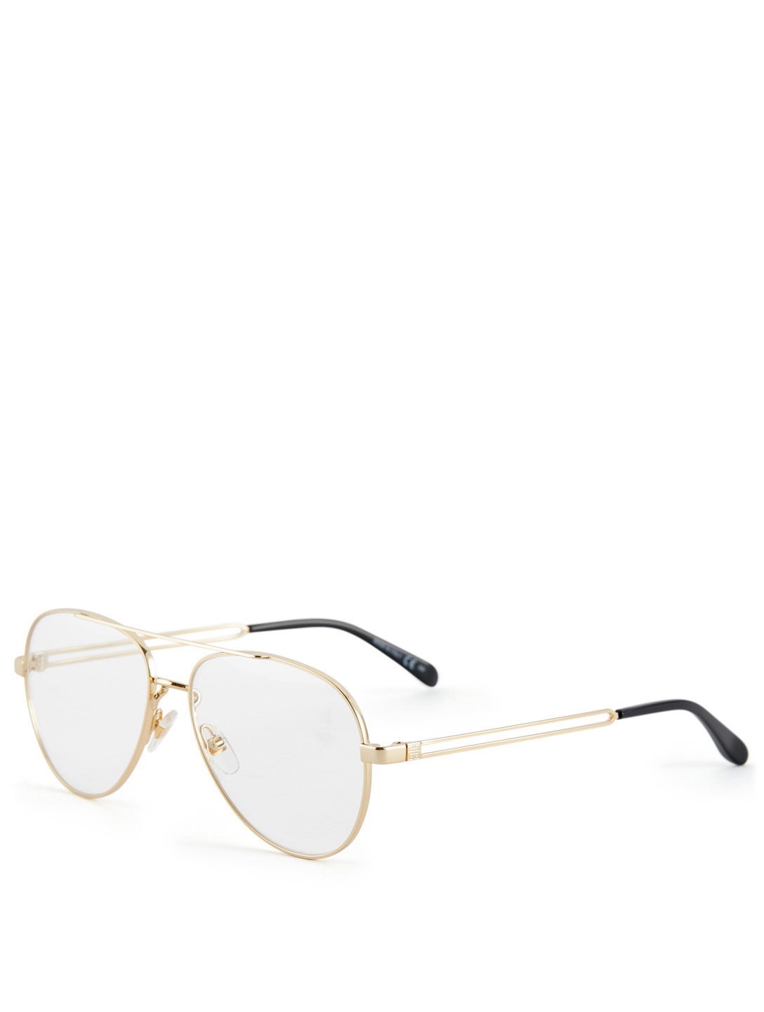 GIVENCHY Aviator Optical Glasses Womens Gold