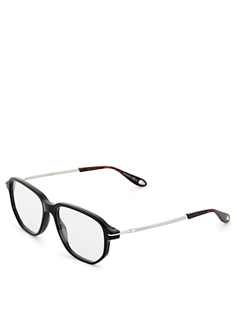GIVENCHY Oversized Square Optical Glasses Men's Black