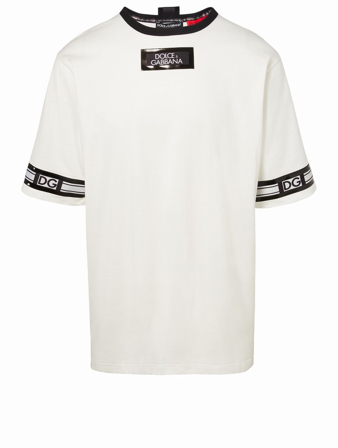 DOLCE & GABBANA Logo Band T-Shirt Men's White