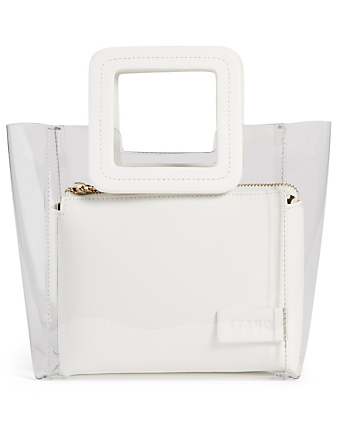 STAUD Mini Shirley PVC Bag With Inner Pouch Women's White