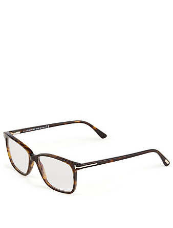 TOM FORD Rectangular Optical Glasses Men's Brown