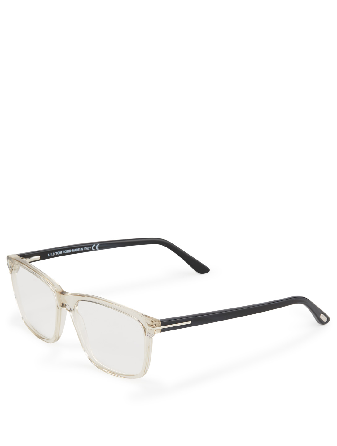 TOM FORD Lunettes rectangulaires Hommes Blanc