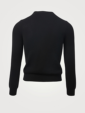 COMME DES GARÇONS PLAY Wool Heart V-Neck Sweater Men's Black