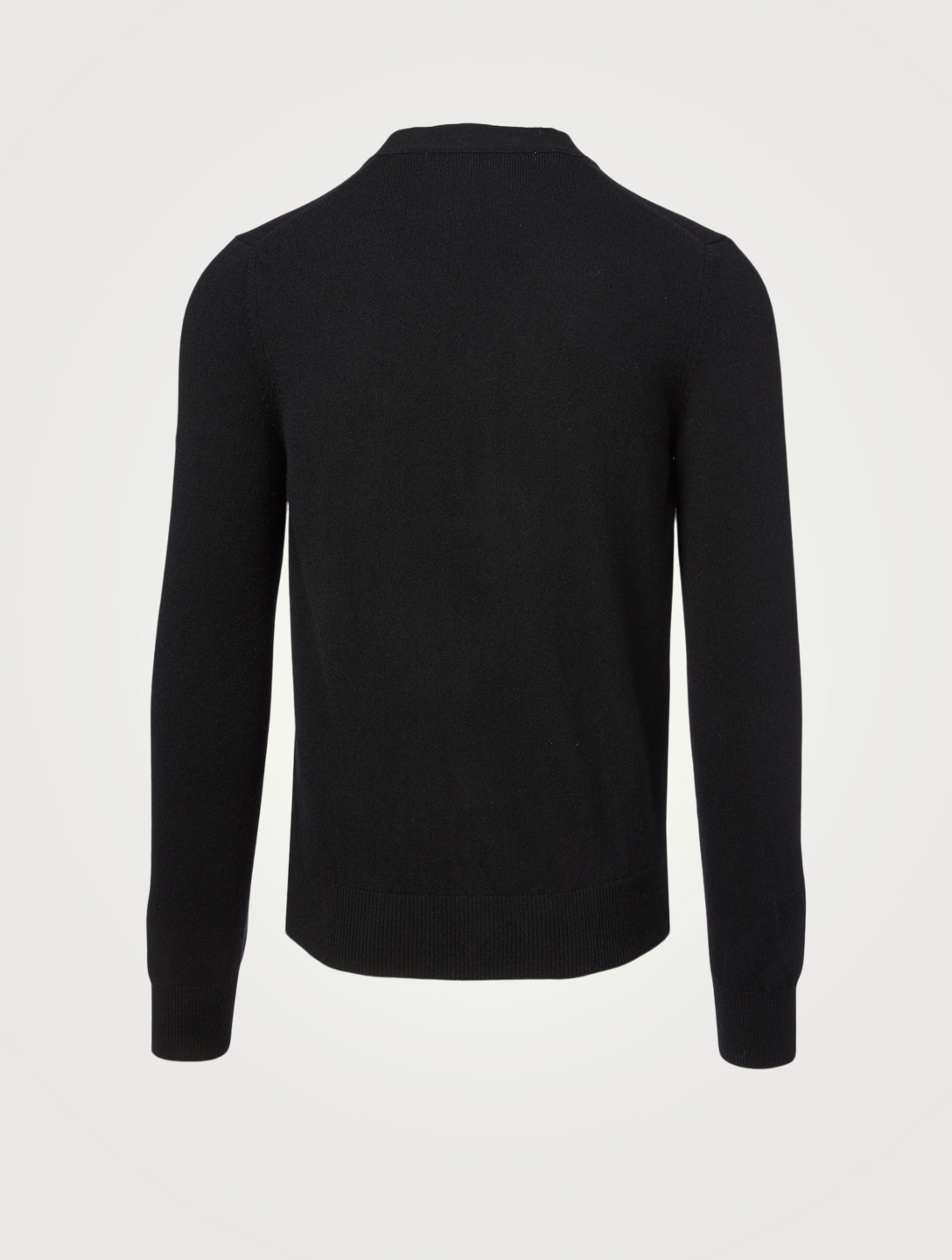 COMME DES GARÇONS PLAY Wool Cardigan With Heart Sleeve Men's Black