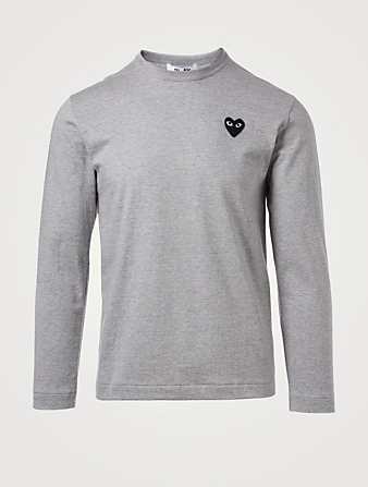 COMME DES GARÇONS PLAY Heart Long Sleeve T-Shirt Men's Grey