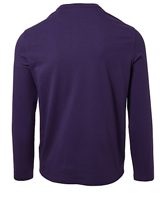 MONCLER Embroidered Ghost Top Men's Purple