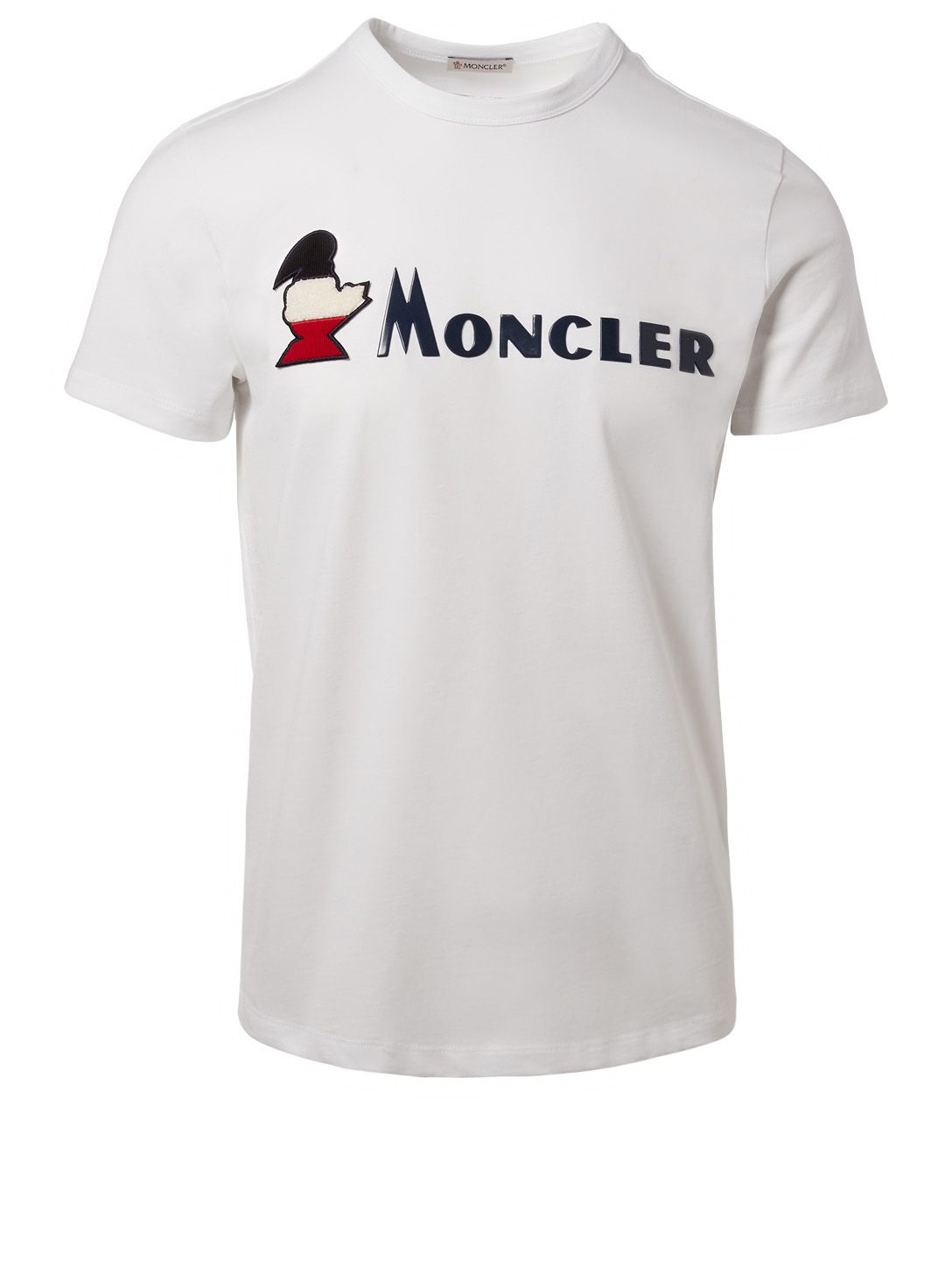 MONCLER Embroidered Duck Logo T-Shirt Men's White