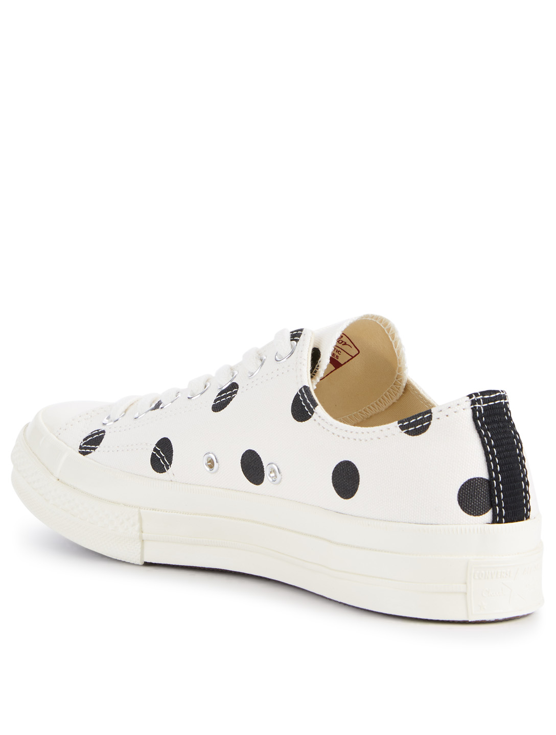 COMME DES GARÇONS PLAY Converse x CDG PLAY Chuck Taylor '70 Canvas Sneakers In Polka Dot Men's Neutral