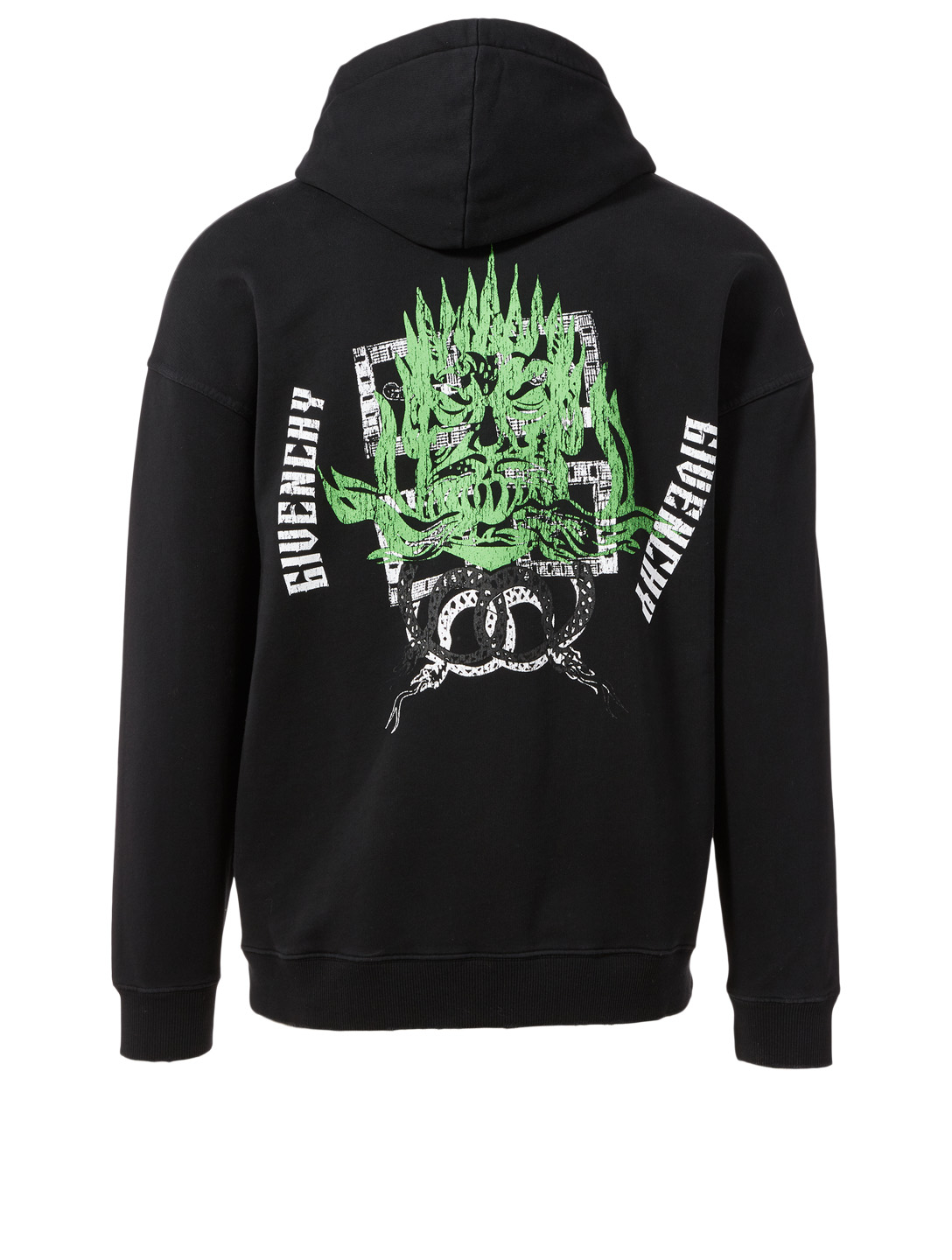 GIVENCHY Snake Graphic Hoodie Men's Black