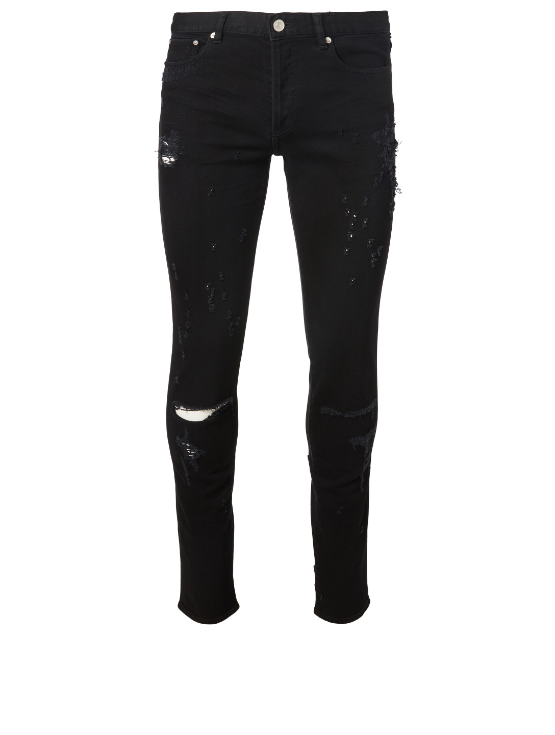 GIVENCHY Ripped Skinny Jeans Men's Black