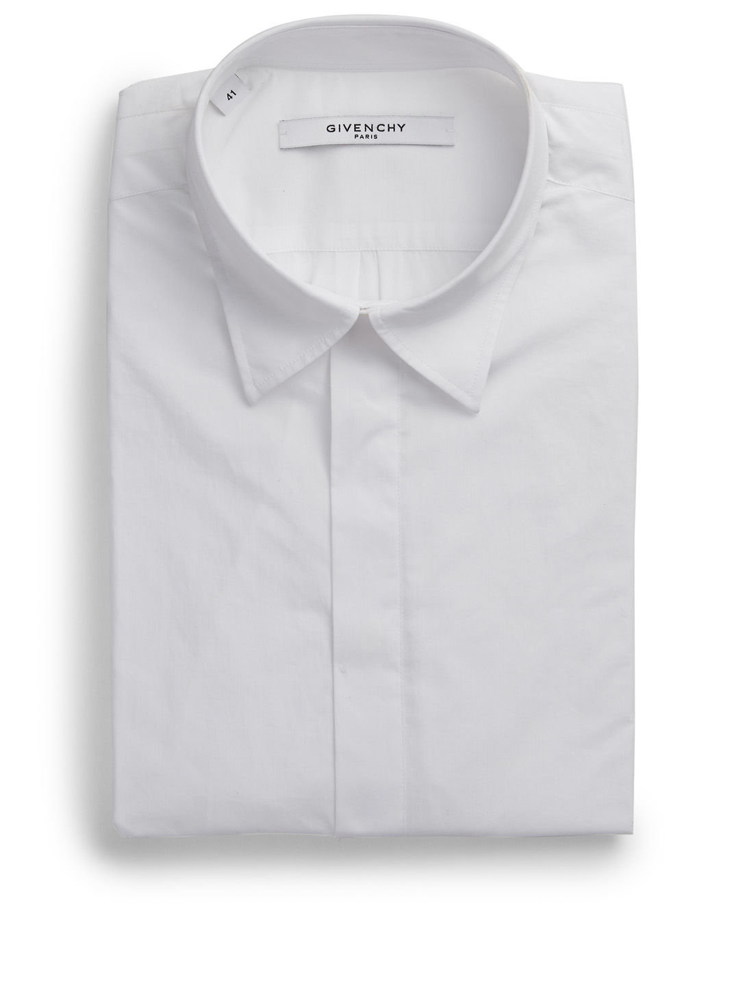 GIVENCHY Rolled-Sleeve Shirt Men's White