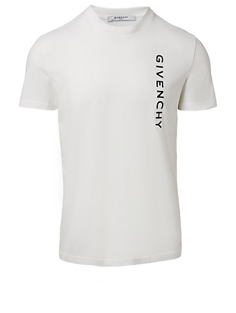 GIVENCHY Vertical Logo T-Shirt Men's White