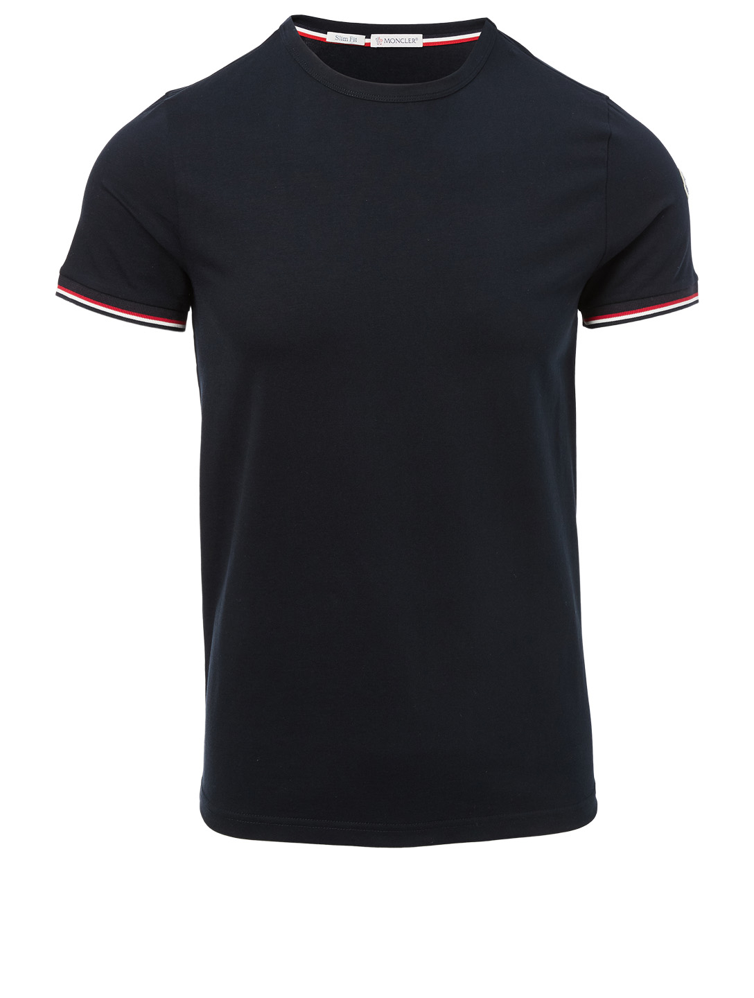 MONCLER T-Shirt With Stripe Trim Men's Blue