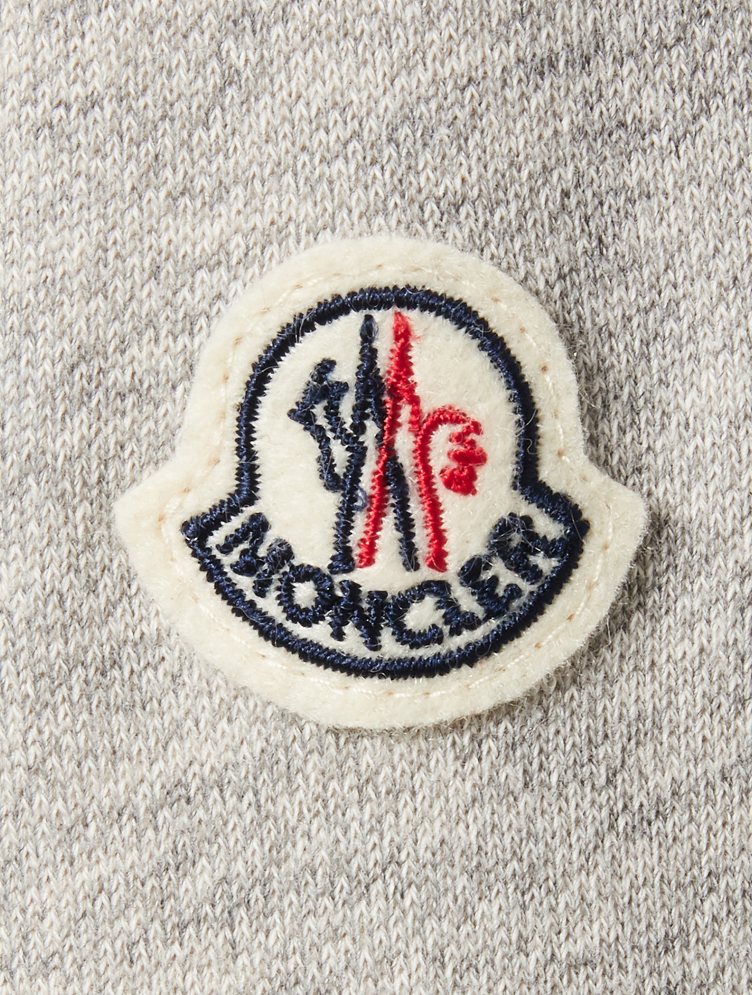 MONCLER Zip-Up Hoodie With Logo Cuffs Men's Grey