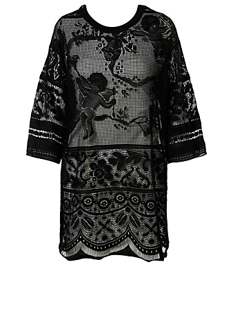DOLCE & GABBANA Long Lace T-Shirt Men's Black