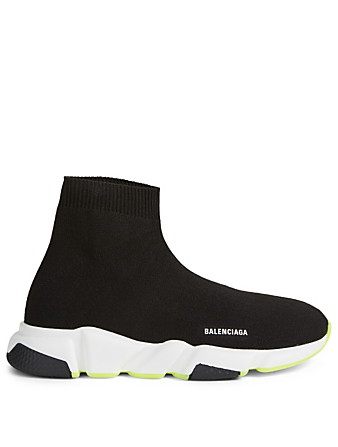 BALENCIAGA Kids Speed High-Top Sock Sneakers Designers Black