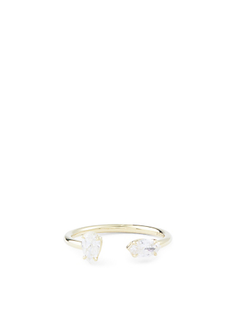 ANITA KO 18K Split Ring With Diamonds Womens Gold