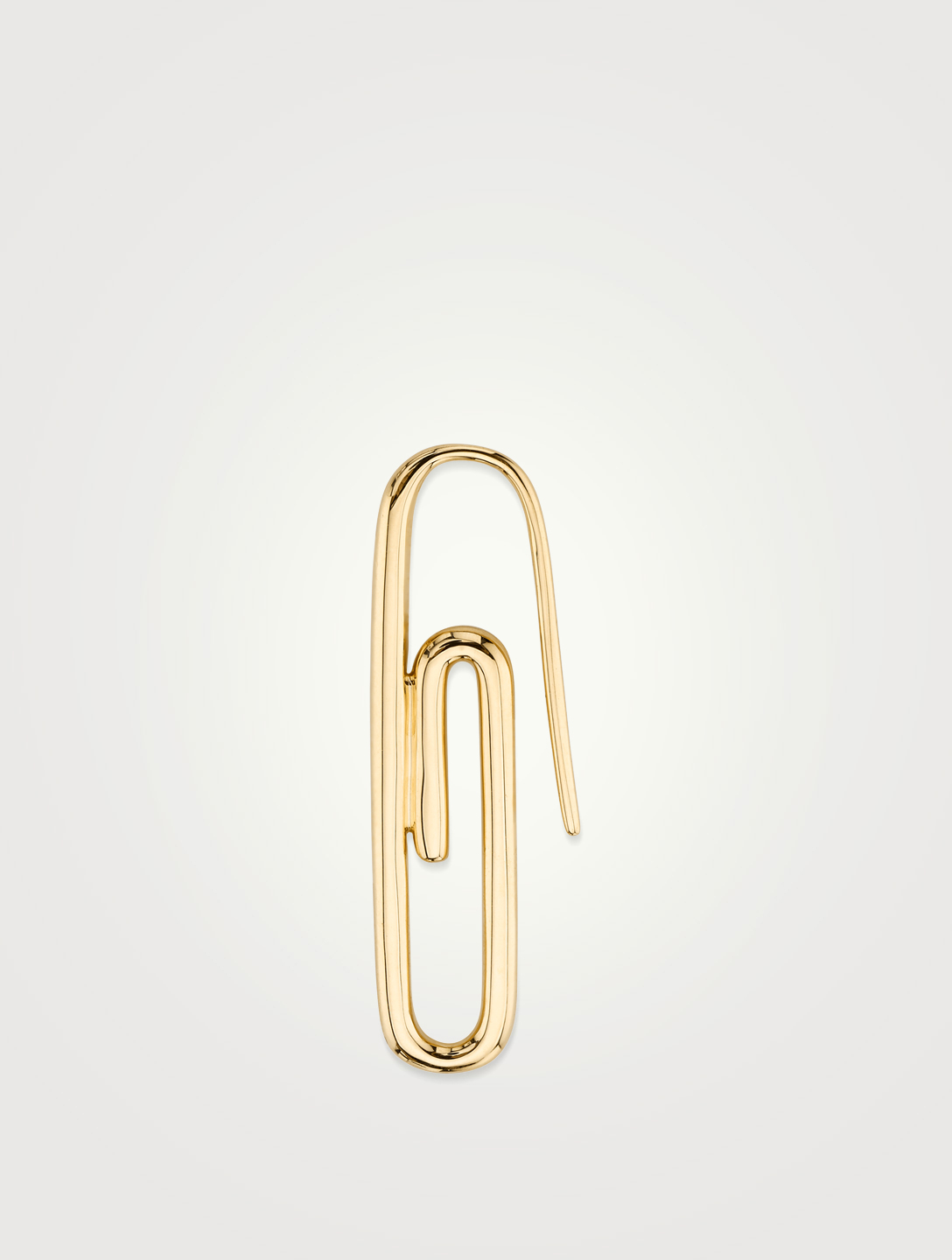 ANITA KO 18K Gold Paper Clip Earring Womens Gold
