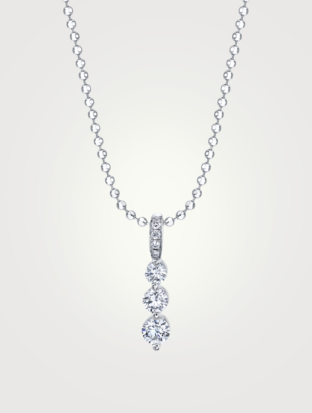ANITA KO Petit collier Twiggy en or blanc à 18 ct serti de diamants Femmes Argent