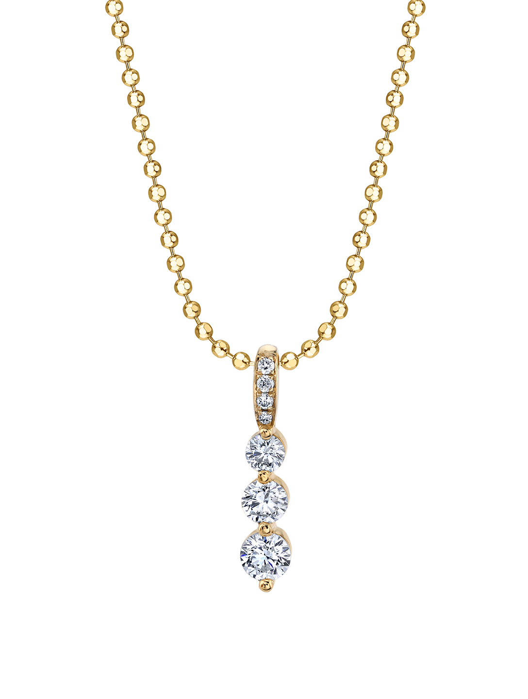 ANITA KO Small 18K Yellow Gold Twiggy Necklace With Diamonds Womens Gold