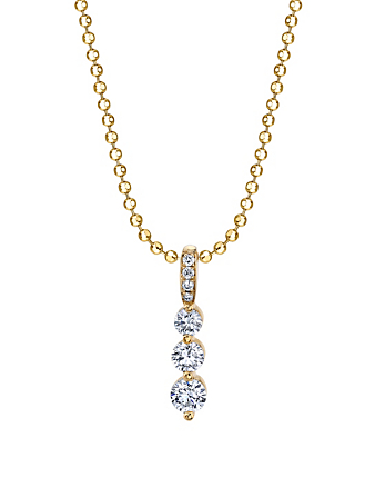 ANITA KO Petit collier Twiggy en or jaune à 18 ct serti de diamants Femmes Or