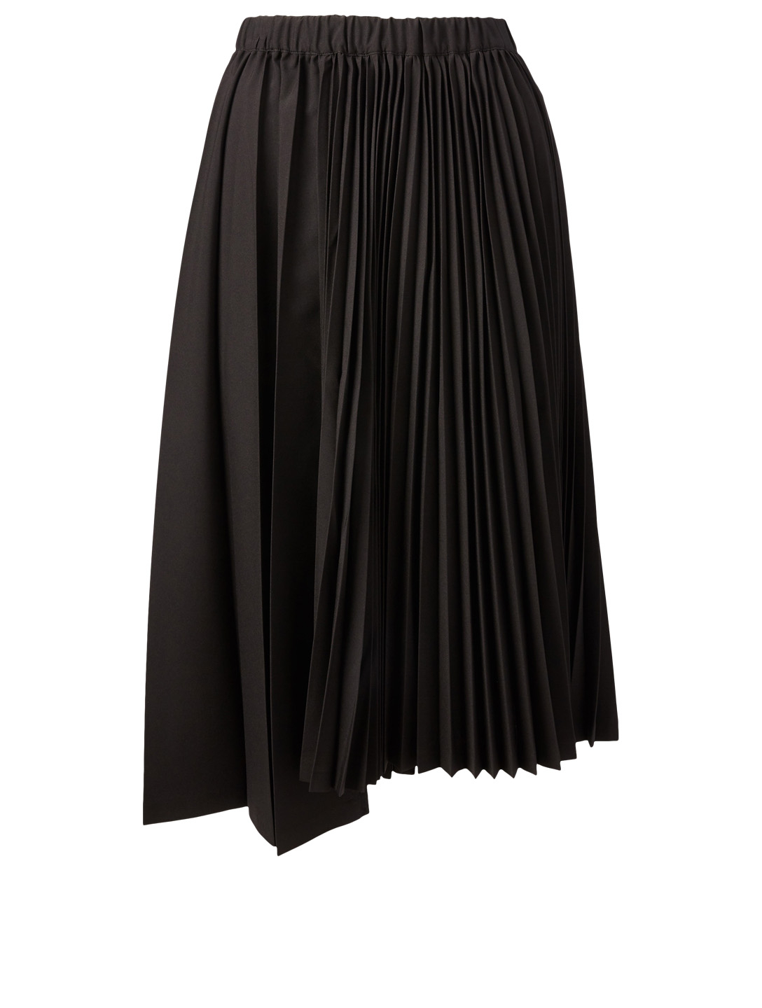 COMME DES GARÇONS BLACK Pleated Midi Skirt Women's Black