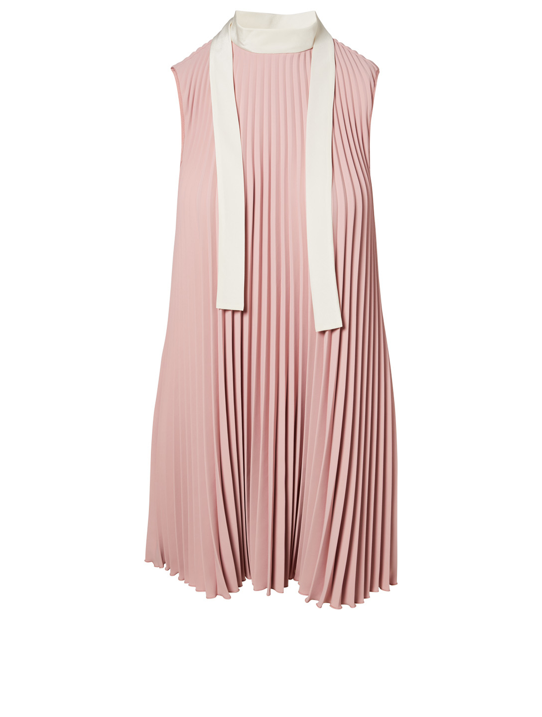6d204fc8b98a RED VALENTINO Techno Fluid Pleated Dress With Neck Tie