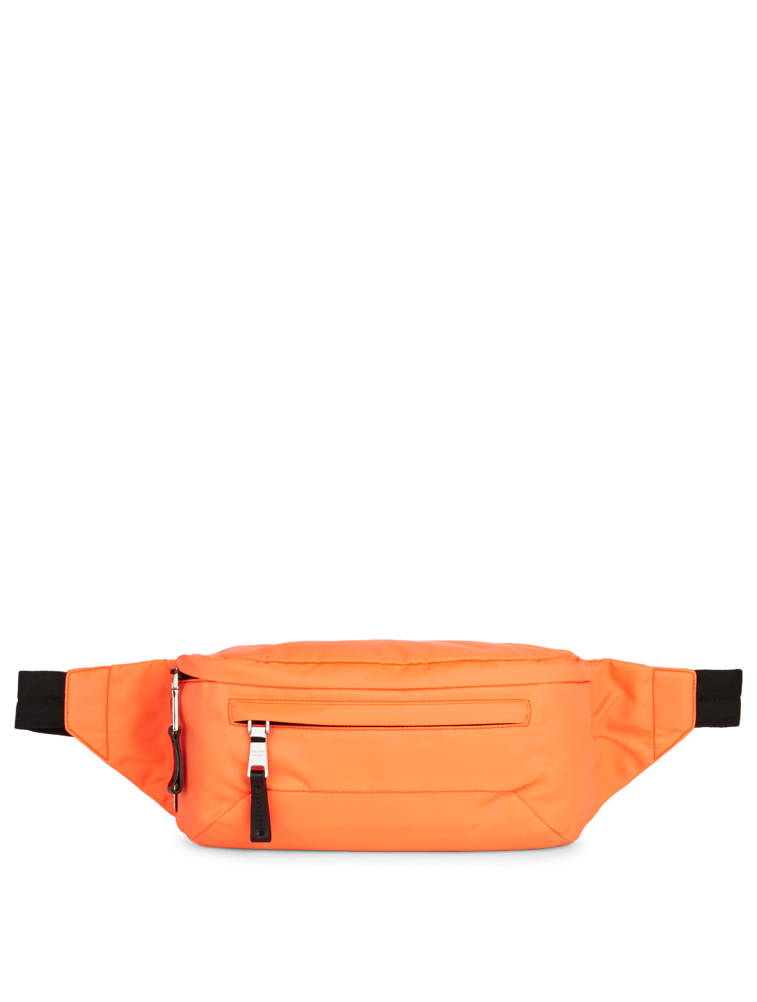 PRADA Nylon Logo Belt Bag Men's Orange