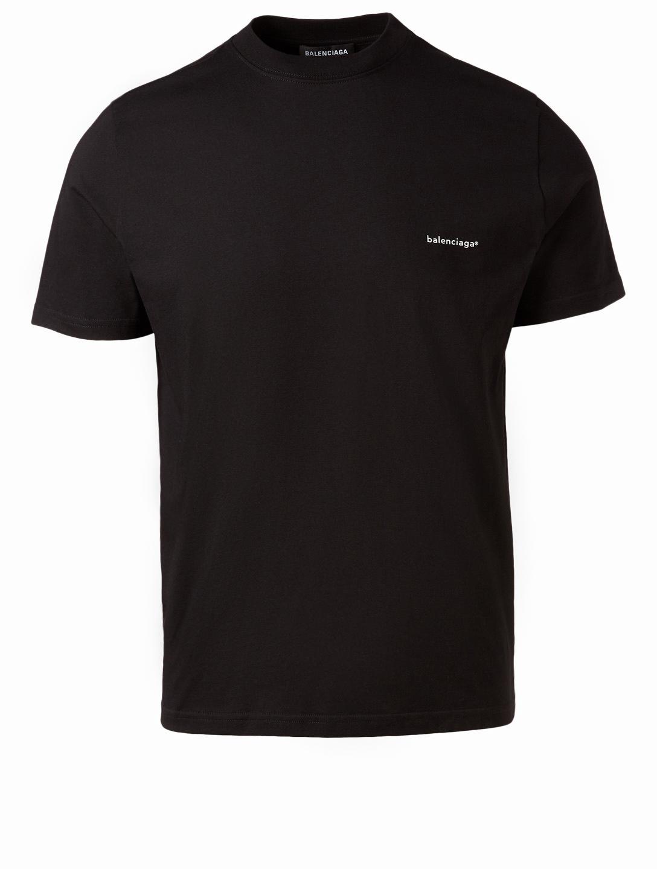 aa76d98f BALENCIAGA Copyright Logo T-Shirt Men's Black ...