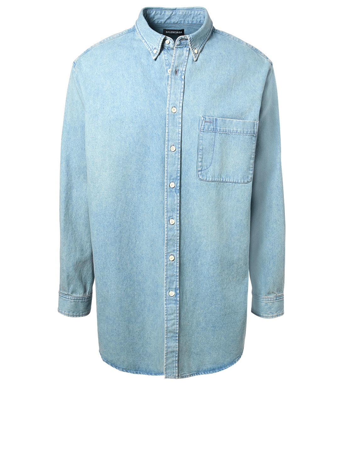c3184a2fc BALENCIAGA Oversized Denim Button-Down Shirt | Holt Renfrew