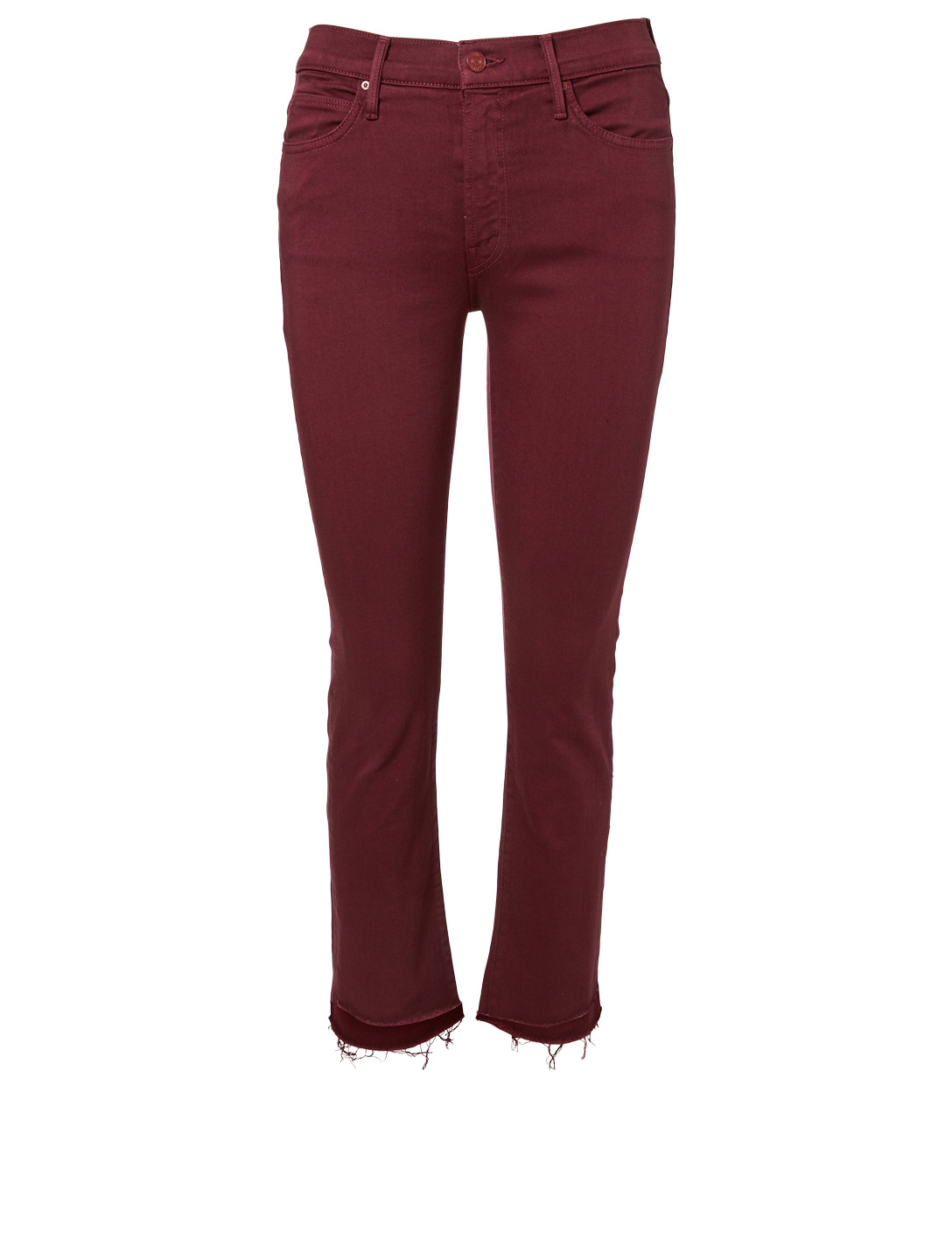 MOTHER Rascal Straight Ankle Jeans With Step Fray Women's Purple