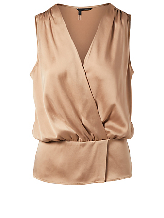 OBAKKI Cleo Silk Cinched Waist Blouse H Project Gold
