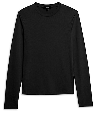 THEORY Tiny Long-Sleeve T-Shirt Women's Black