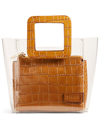 STAUD Mini Shirley PVC Bag With Inner Pouch Womens Brown