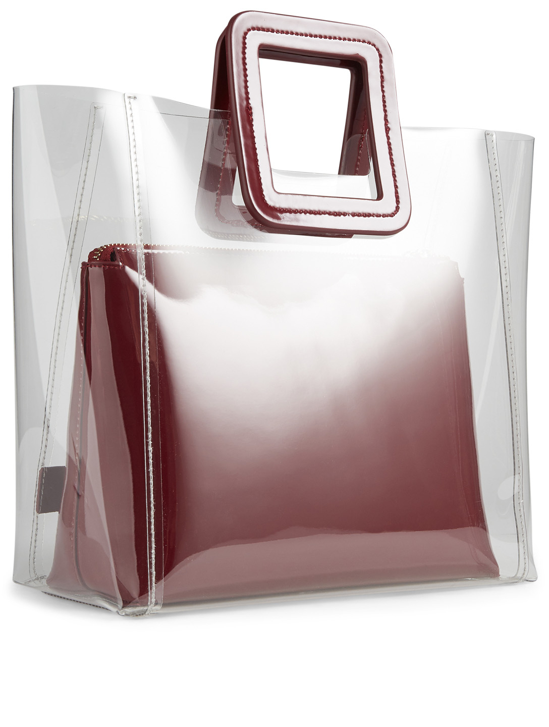 STAUD Shirley PVC Bag With Inner Pouch Womens Red