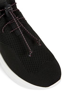MIU MIU Technical Knit Sneakers Womens Black