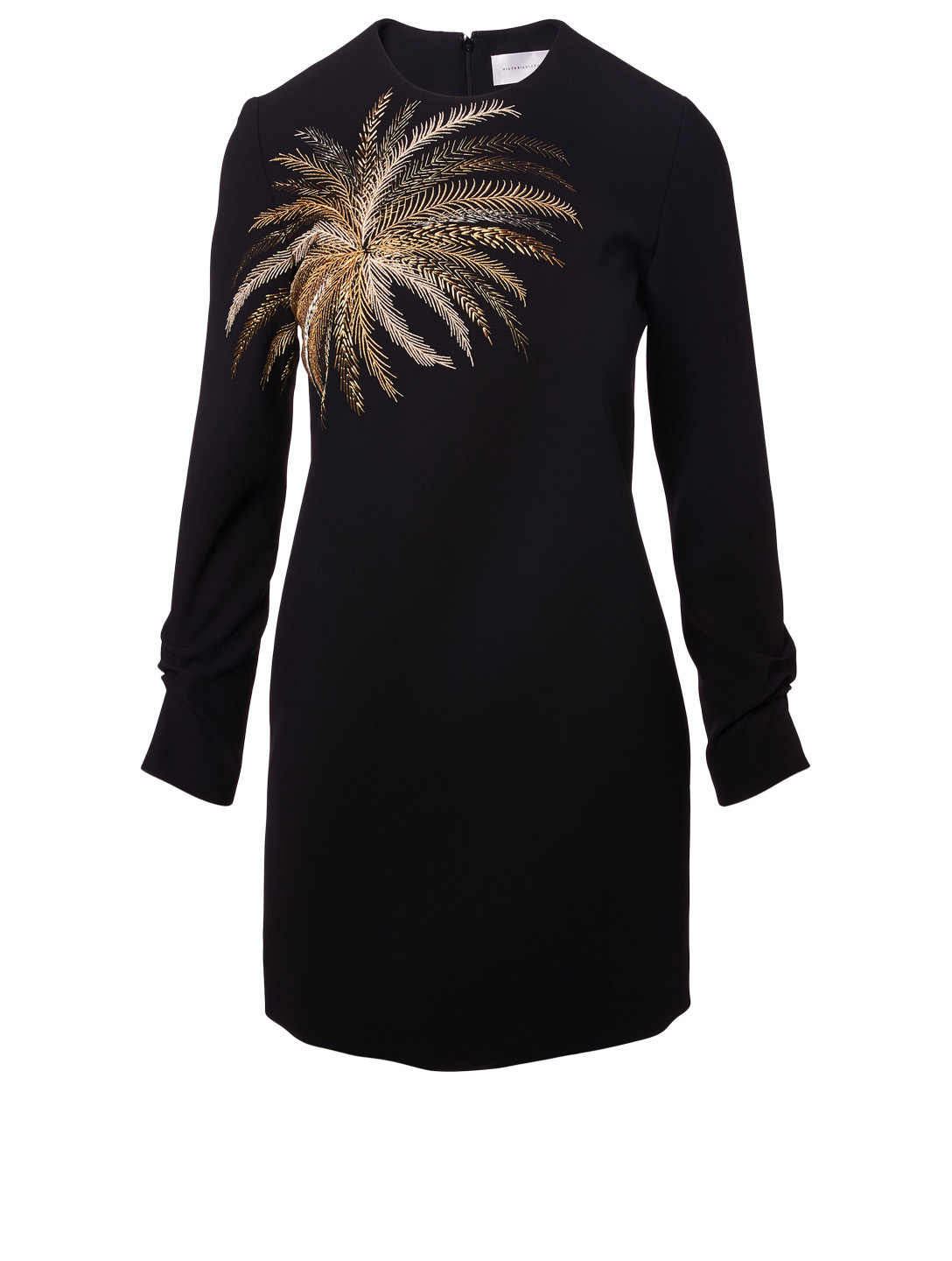 972516cdd VICTORIA VICTORIA BECKHAM. Crêpe Shift Dress With Embroidered Palm Tree