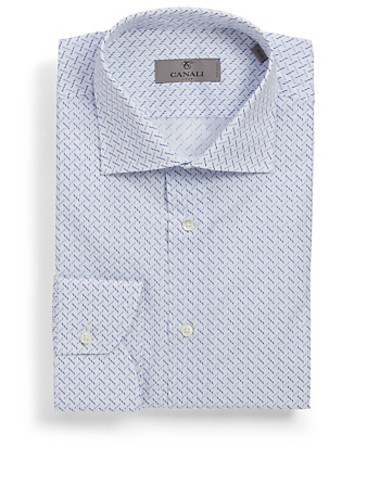 CANALI Dress Shirt In Geo Print Men's White
