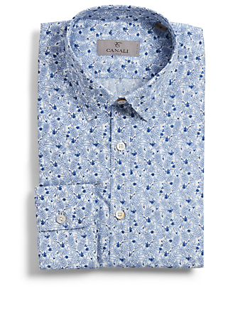 CANALI Shirt In Floral Print Men's White