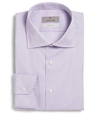 CANALI Printed Dress Shirt Men's Purple