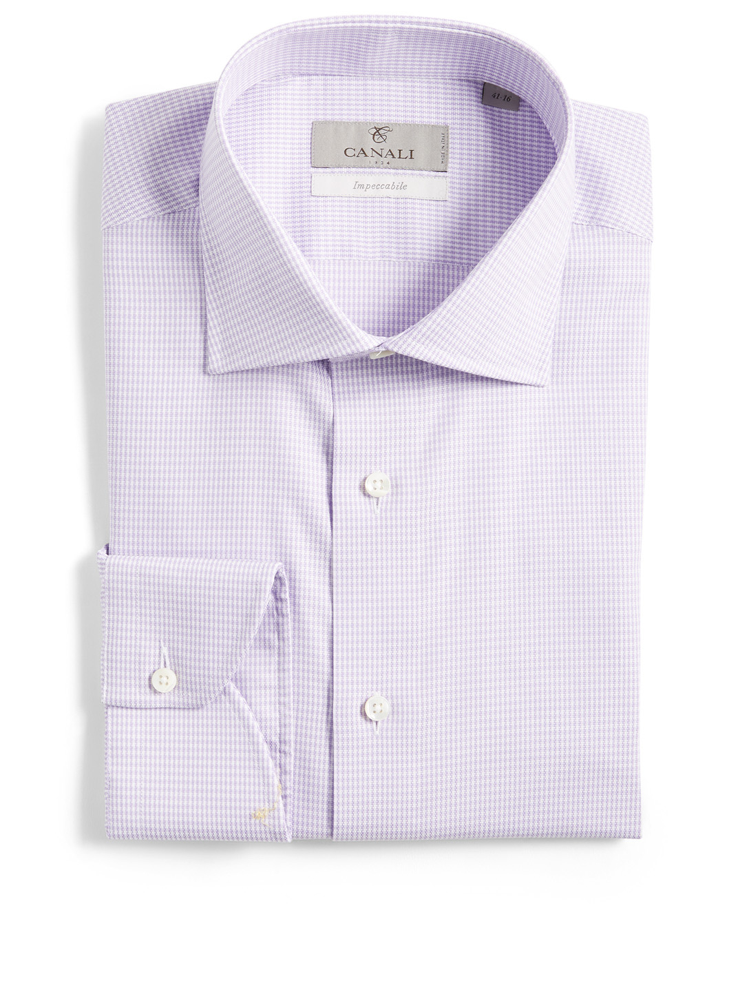 CANALI Dress Shirt In Micro Check Men's Purple