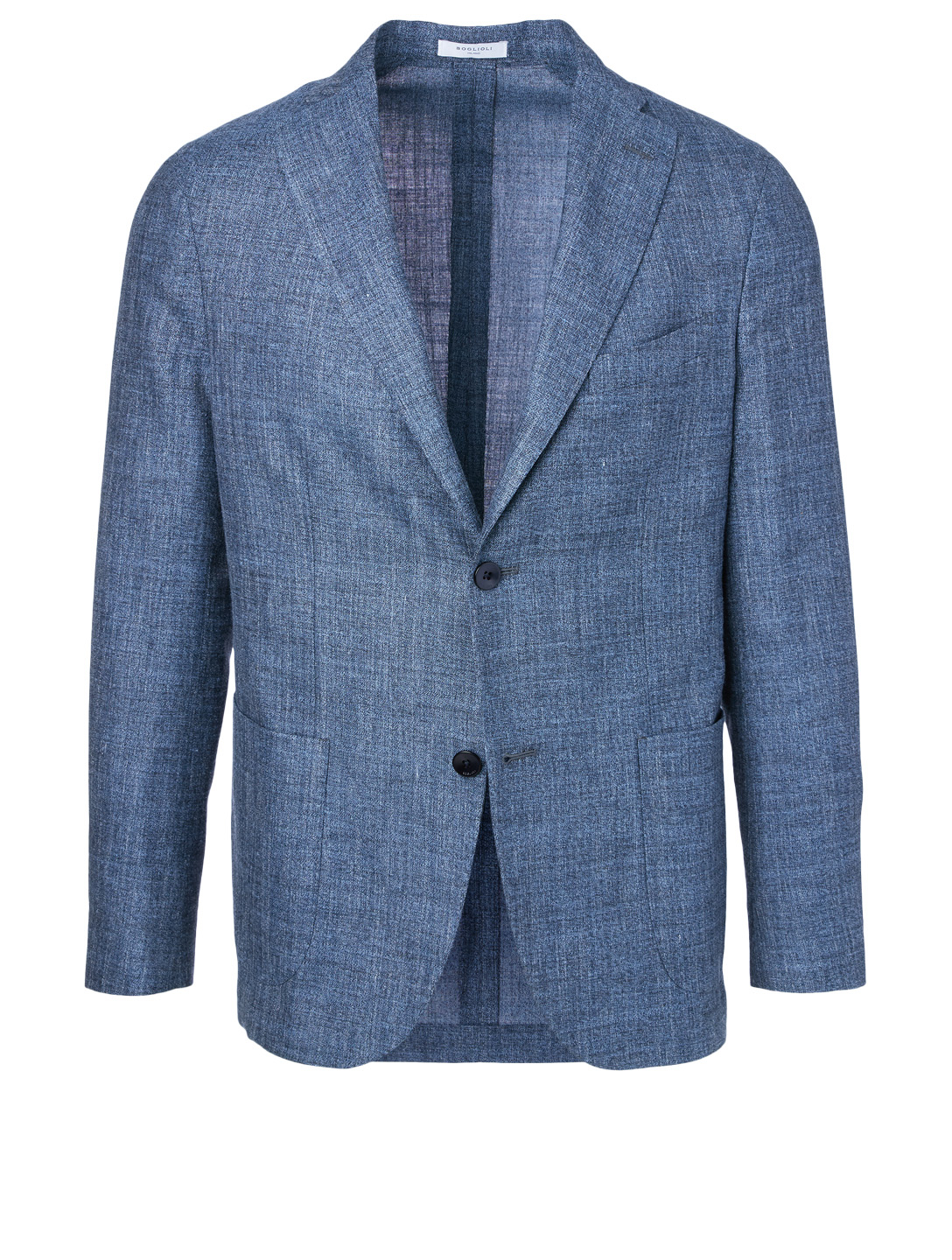BOGLIOLI Wool, Silk And Linen K Jacket Men's Blue