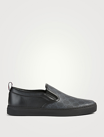 GUCCI GG Supreme Slip-On Sneakers Designers Black